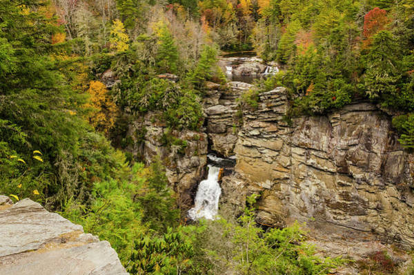 Photograph - Linville Falls - Wide View by Paul Croll