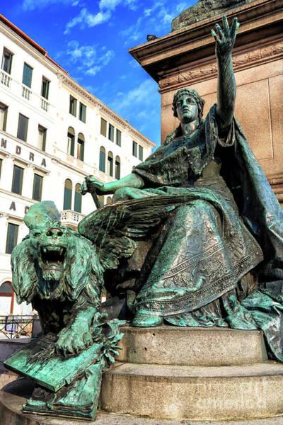 Photograph - Lion And The Lady Venezia by John Rizzuto