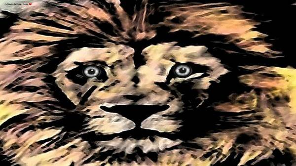 Digital Art - Lion by Catherine Lott