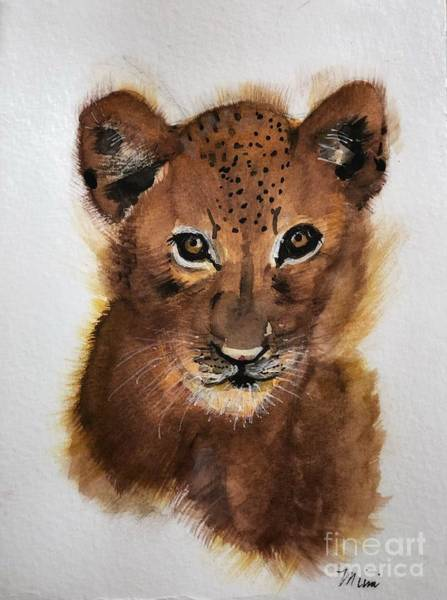 Painting - Lion Cub by Marcia Breznay