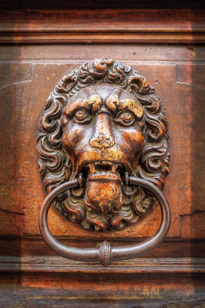 Wall Art - Photograph - Lion Head Door Knocker Geneva Switzerland  by Carol Japp