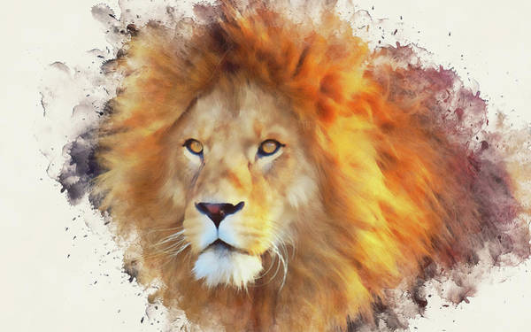 Painting - Lion King - 05 by Andrea Mazzocchetti