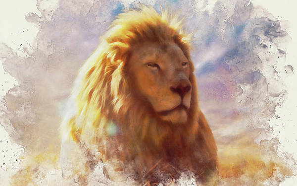 Painting - Lion King - 09 by Andrea Mazzocchetti