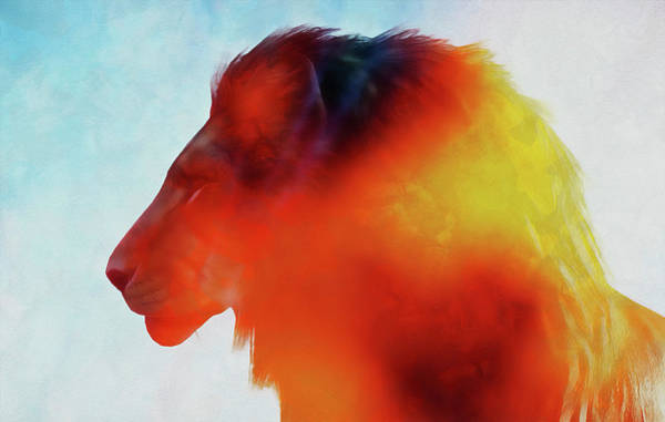 Painting - Lion King - 16 by Andrea Mazzocchetti