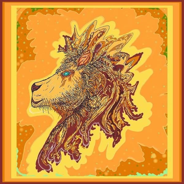 Drawing - Lion King by Julia Woodman