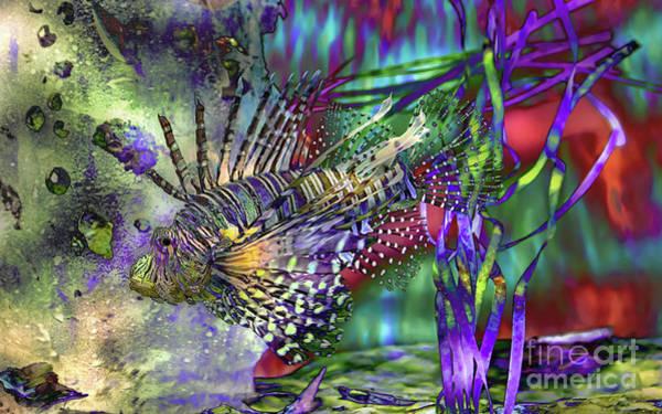 Wall Art - Photograph - Lionfish Dive by Banyan Ranch Studios