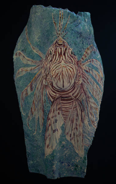 Painting - Lionfish by Nancy Lauby