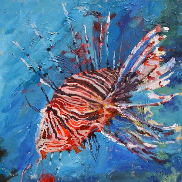 Painting - Lionfish Painting by Donna Tuten