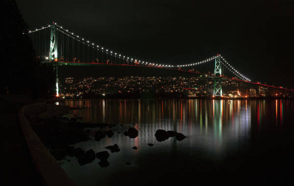 Photograph - Lions Gate Bridge by Cameron Wood