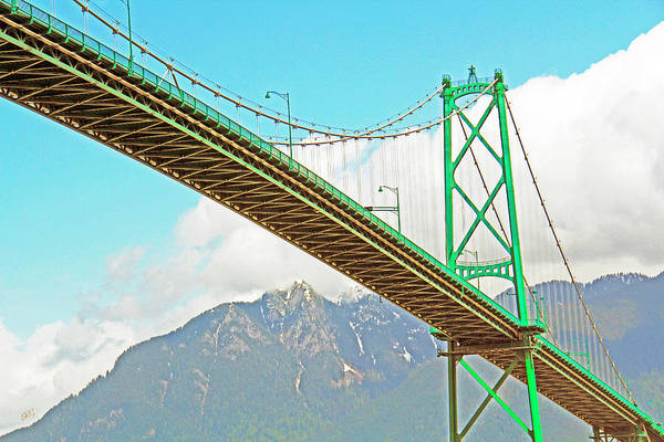 Photograph - Lions Gate Bridge - Stanley Park Vancouver by Ben and Raisa Gertsberg