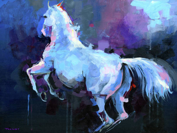 Dressage Painting - Lippizan Levade 1.0 by Catherine Twomey