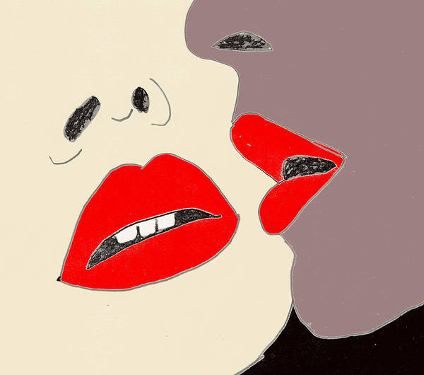 Drawing - Lips by W And F Kreations