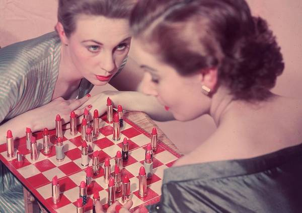Kitsch Photograph - Lipstick Check by Chaloner Woods