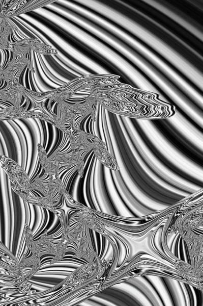 Digital Art - Liquid Chrome by Steve Purnell
