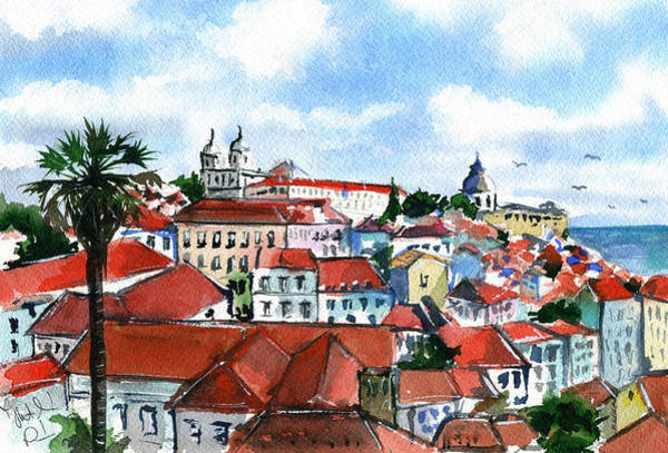 Painting - Lisbon  by Dora Hathazi Mendes