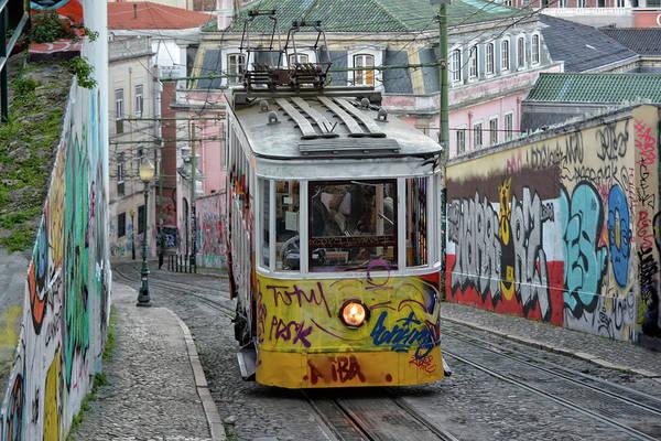 Wall Art - Photograph - Lisbon Electrical Tramway by Joachim G Pinkawa