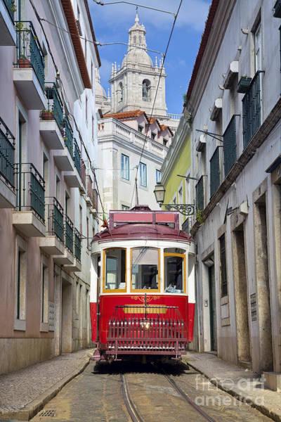 Exterior Wall Art - Photograph - Lisbon. Image Of Street Of Lisbon by Rudy Balasko
