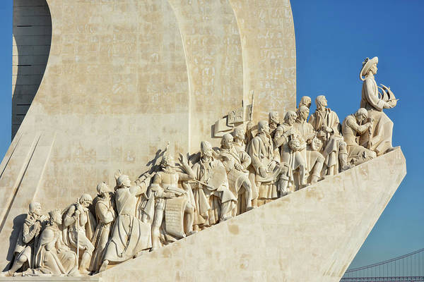 Historical Monument Photograph - Lisbon - Monument Of The Discoveries by Joachim G Pinkawa