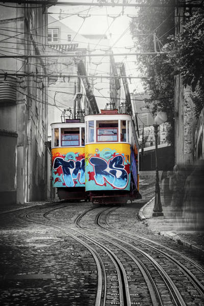 Wall Art - Photograph - Lisbon Portugal Elevador Da Gloria by Carol Japp