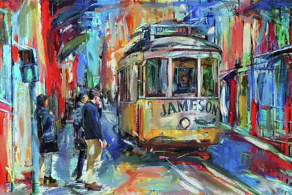 Lisbon Digital Art - Lisbon Tram 5 by Yury Malkov