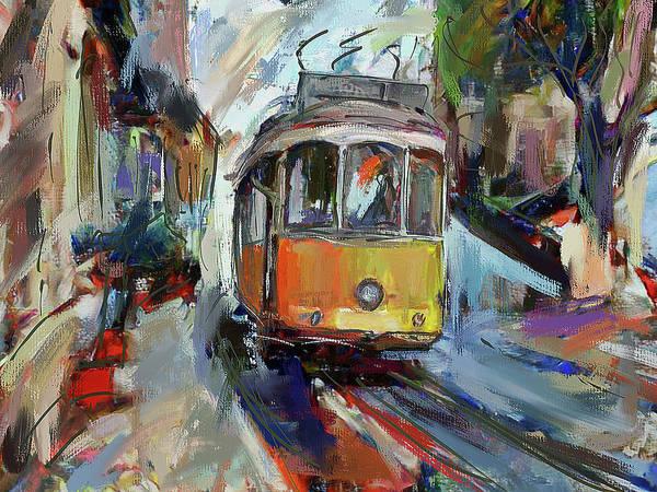 Lisbon Digital Art - Lisbon Tram 7 by Yury Malkov