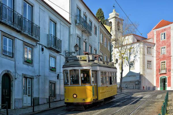 City Centre Photograph - Lisbon Tramway II by Joachim G Pinkawa