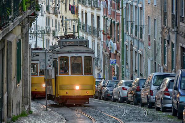 City Centre Photograph - Lisbon Tramway by Joachim G Pinkawa
