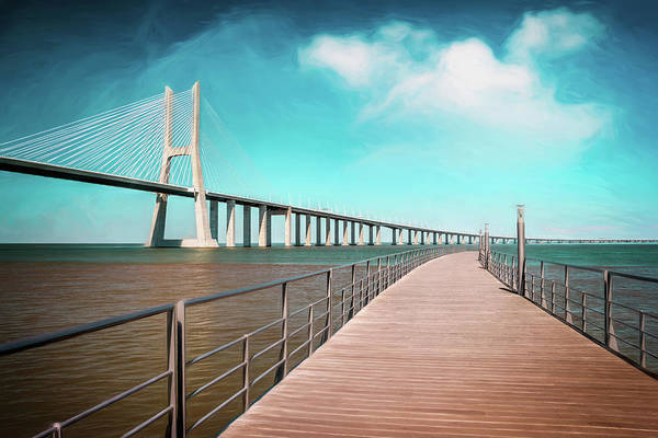 Wall Art - Photograph - Lisbon Vasco Da Gama Bridge Portugal by Carol Japp