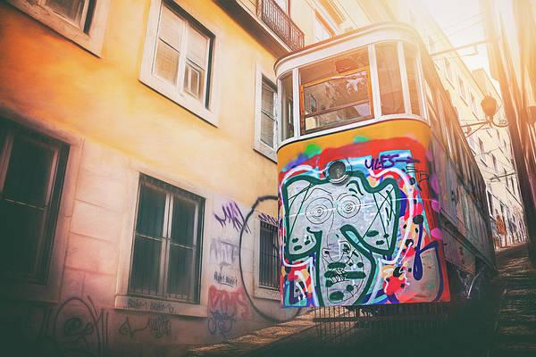 Street Scene Photograph - Lisbon's Lively Transport by Carol Japp