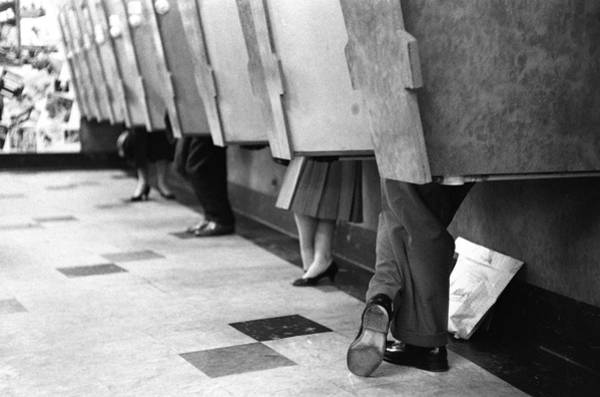 Customer Photograph - Listening Booths by Bert Hardy Advertising Archive