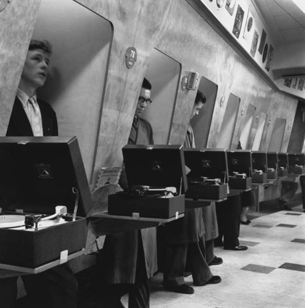 Wall Art - Photograph - Listening Booths by John Drysdale