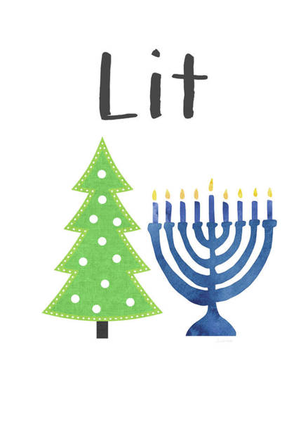 Digital Art - Lit Christmas And Hanukkah- Art By Linda Woods by Linda Woods