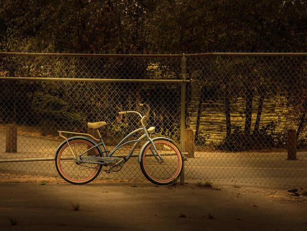 Photograph - Lite Blue Bike by Juan Contreras