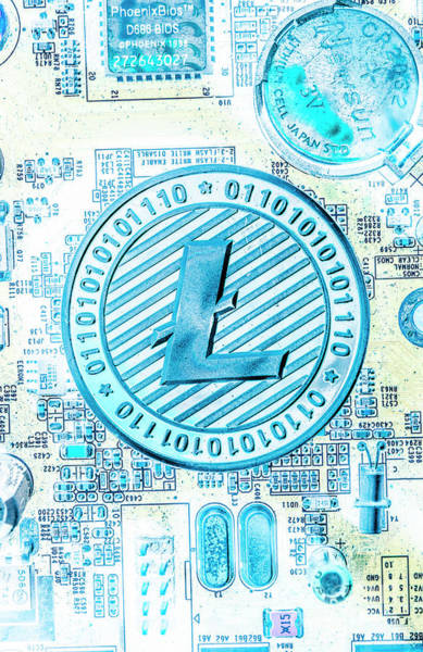 Commerce Photograph - Litecoin Design by Jorgo Photography - Wall Art Gallery