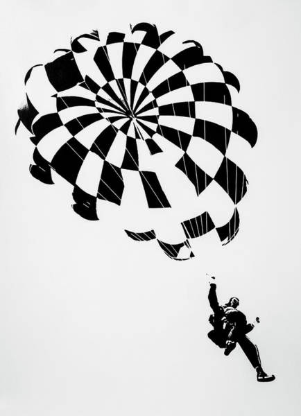 Skydiver Photograph - Litho Parachute by Garry Gay