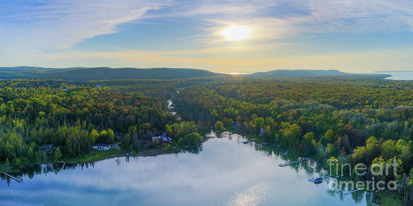 Wall Art - Photograph - Litte Traverse Lake Aerial by Twenty Two North Photography