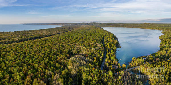 Wall Art - Photograph - Litte Traverse Lake And Lake Michigan Aerial by Twenty Two North Photography