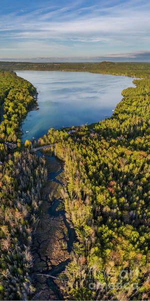 Wall Art - Photograph - Litte Traverse Lake Vertical Panorama by Twenty Two North Photography