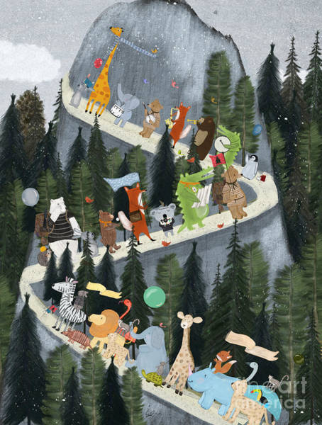 Wall Art - Painting - Little Adventure Mountain by Bri Buckley