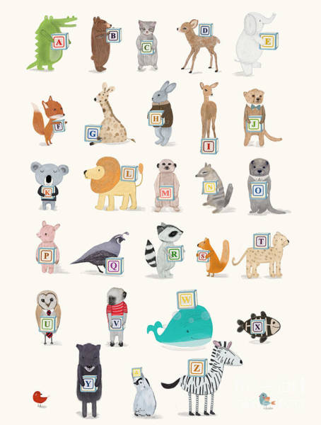 Little Alphabet Art Print by Bri Buckley