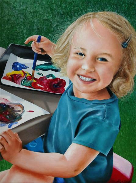 Painting - Little Artist - Painting by Ashley Koebrick Schmidt