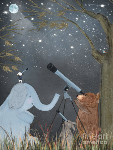 Wall Art - Painting - Little Astrologers by Bri Buckley