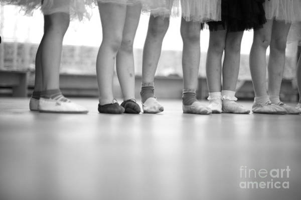 Wall Art - Photograph - Little Ballerinas Legs Standing In A by Anna Jurkovska