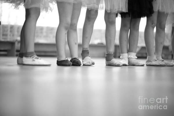 Language Photograph - Little Ballerinas Legs Standing In A by Anna Jurkovska