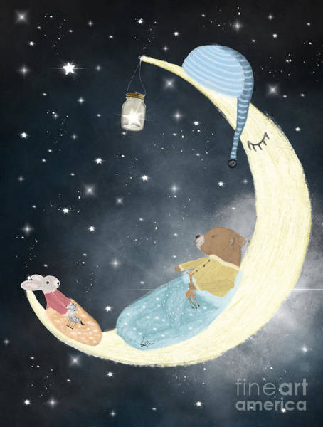 Dreamy Wall Art - Painting - Little Bedtime by Bri Buckley