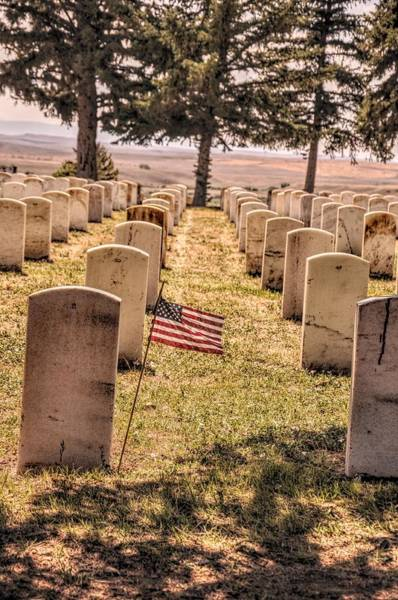 Wall Art - Photograph - Little Bighorn Battlefield Veteran Cemetery  by Chance Kafka
