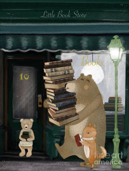 Wall Art - Painting - Little Book Store by Bri Buckley