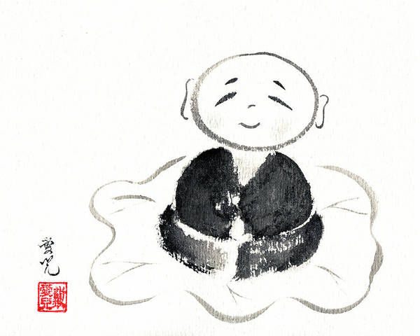 Painting - Little Buddha by Oiyee At Oystudio