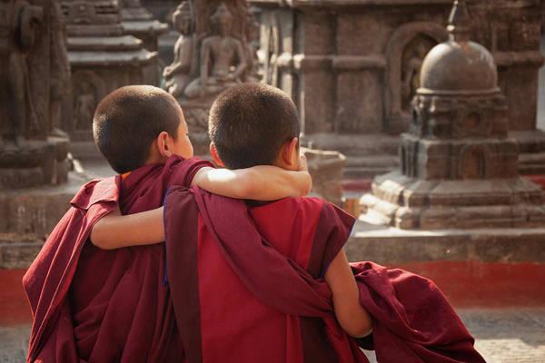 Wall Art - Photograph - Little Buddhist Monks by Marco Cirone