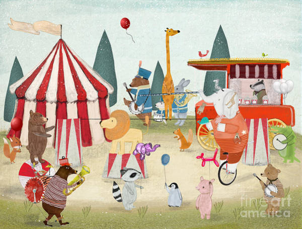 Wall Art - Painting - Little Carnival by Bri Buckley